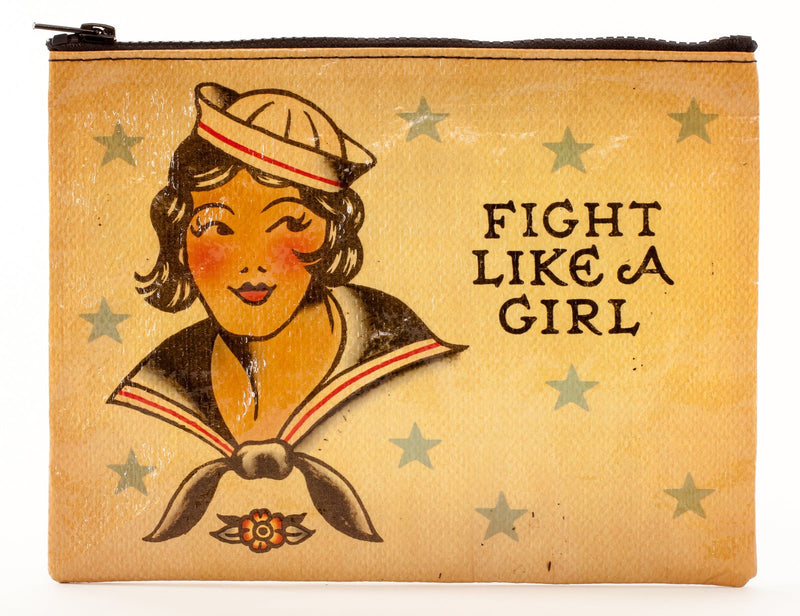 Fight Like A Girl Zipper Pouch