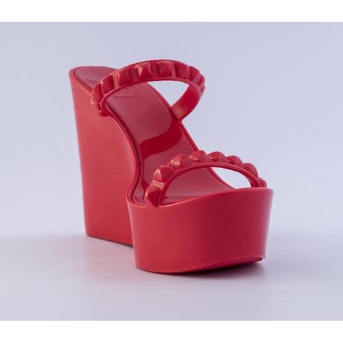 'Tonino' Platform Wedges in Red