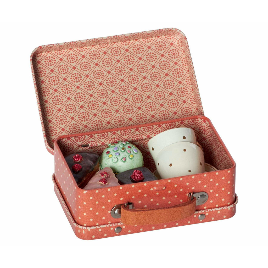 Suitcase Polkadot W. Cakes & Tableware For 2 - ANTHILL shopNplay
