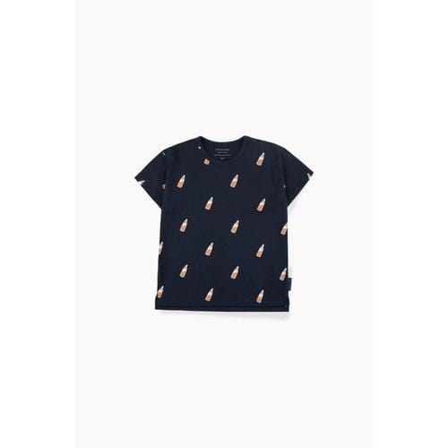 'Soda Bottle' Short Sleeve Shirt in Navy