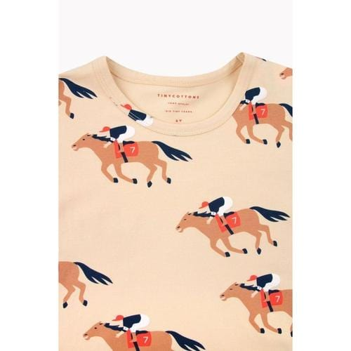 'Horse Fun Run' Short Sleeve Shirt in Cream