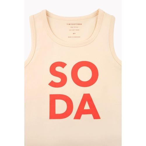 'Soda' Tank Top in Cream - ANTHILL shopNplay