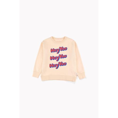 'Hey You' Pullover Sweatshirt in Cream - ANTHILL shopNplay