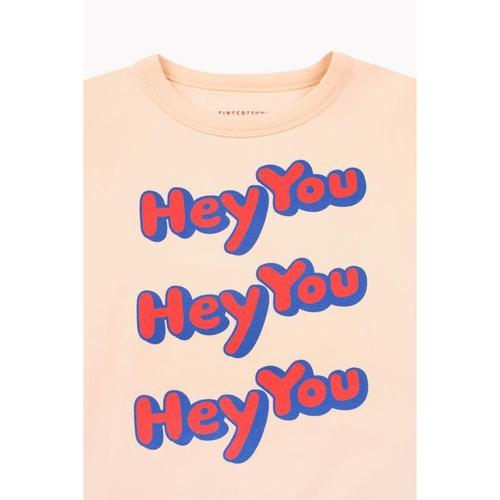 'Hey You' Pullover Sweatshirt in Cream