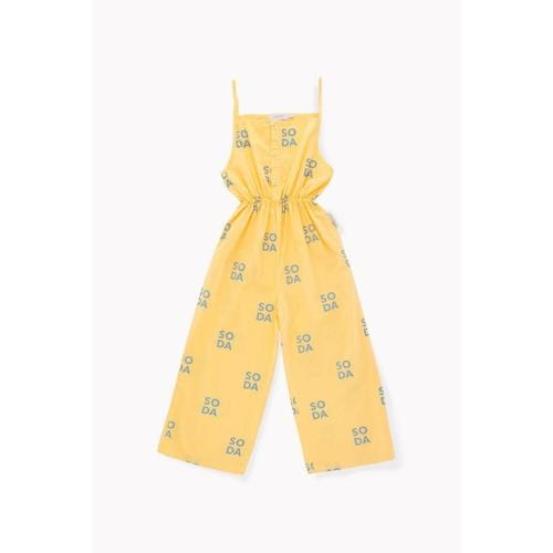 'Soda' Spaghetti Strap Jumpsuit in Canary