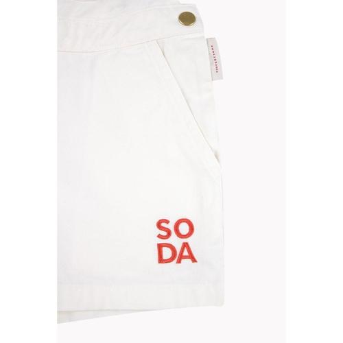Soda' Overall Shorts in Off-White - ANTHILL shopNplay