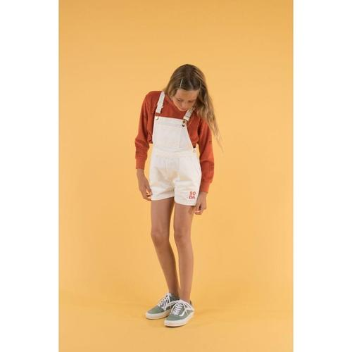 'Soda' Overall Shorts in Off-White - ANTHILL shopNplay