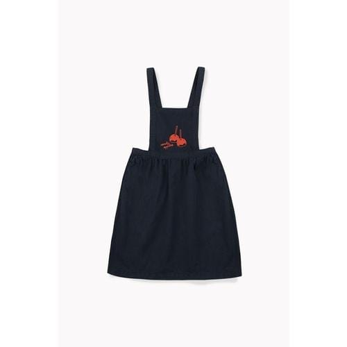 'Candy Apples' Overall Braces Dress in Navy