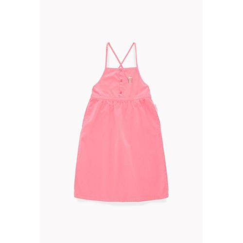 'Popcorn' Cross Back Spaghetti Strap Dress in Rose