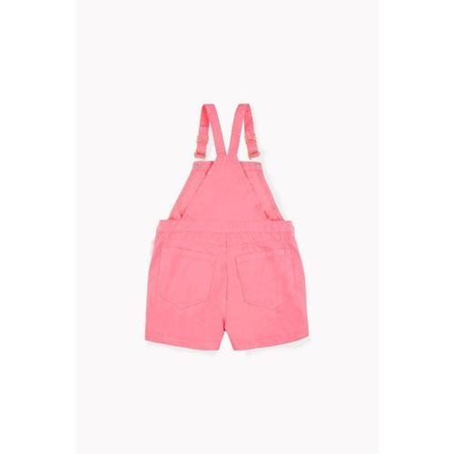 'Sweet' Overall Shorts in Rose