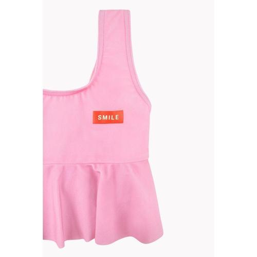 'Smile' Frill Two-Piece Swim Set in Pink & Red - ANTHILL shopNplay