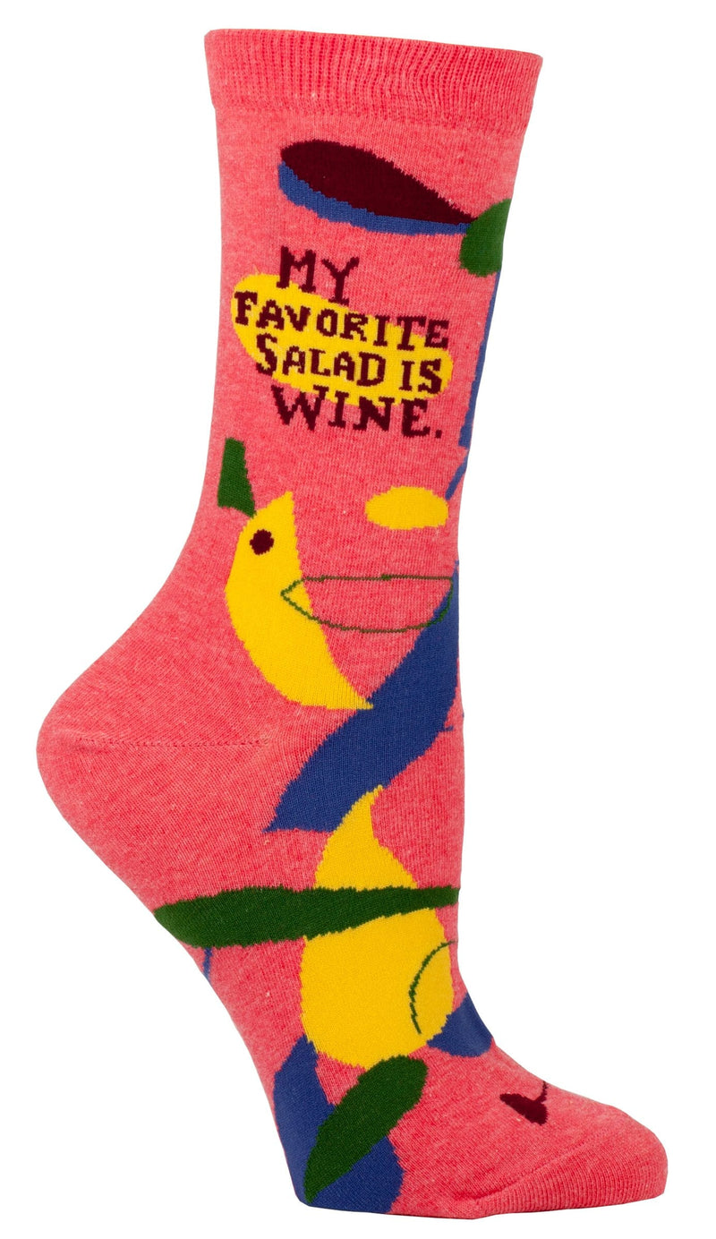 My Favorite Salad Is Wine Crew Socks