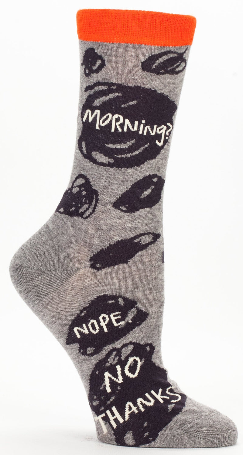 Mornings No Thanks Crew Socks