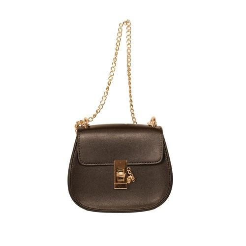 'Saddle' Crossbody Handbag in Black - ANTHILL shopNplay