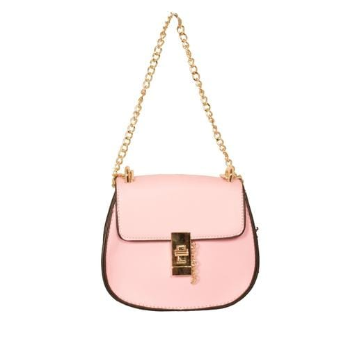 'Saddle' Crossbody Handbag in Pink