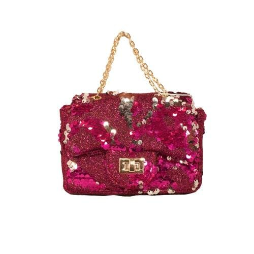 'Sienna' Sequins Handbag in Hot Pink - ANTHILL shopNplay
