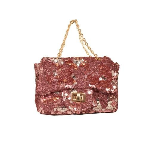 'Sienna' Sequins Handbag in Light Pink