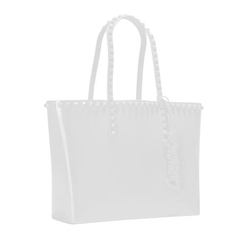 'Seba' Mid Tote in White - ANTHILL shopNplay