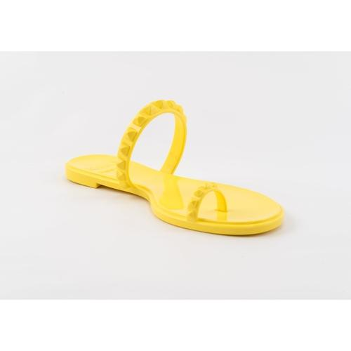 'Maria' Flat Sandals in Yellow