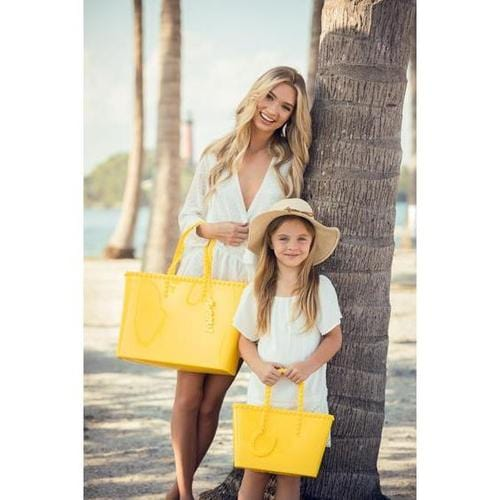 'Angelica' Large Tote in Yellow