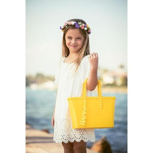 'Grazia' Mini Tote in Yellow