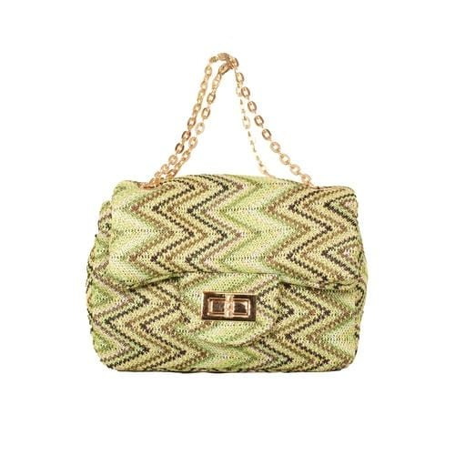'Liz' Zig Zag Handbag in Green