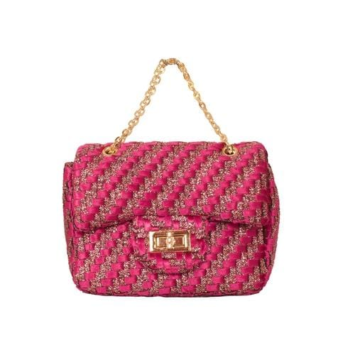 'Liz' Zig Zag Handbag in Pink - ANTHILL shopNplay