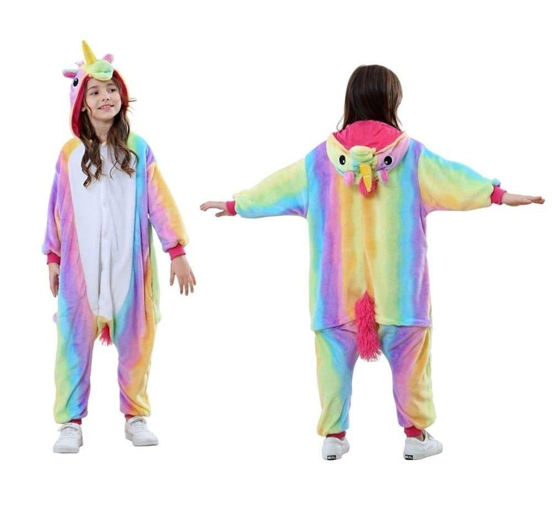 Kids Unisex Animal Onesies - Rainbow Unicorn