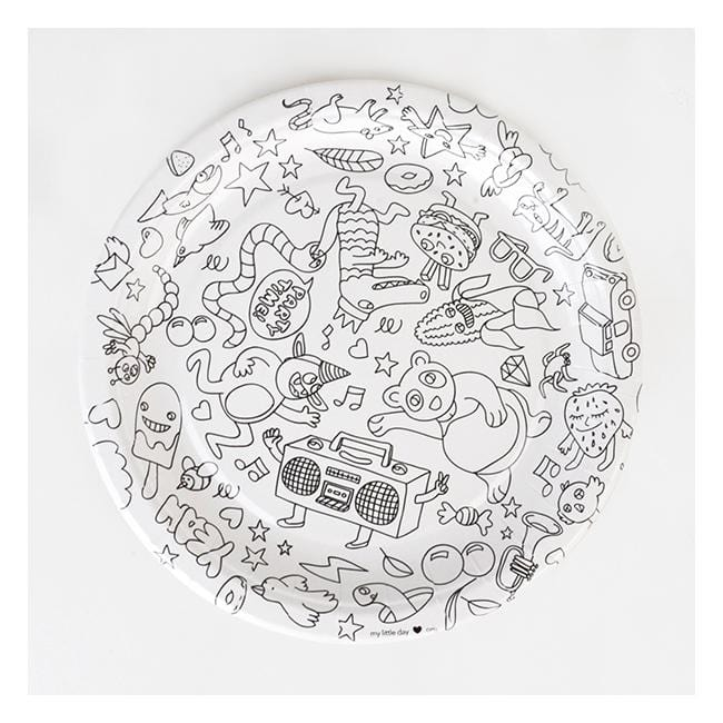 Set Of 8 Party Plates