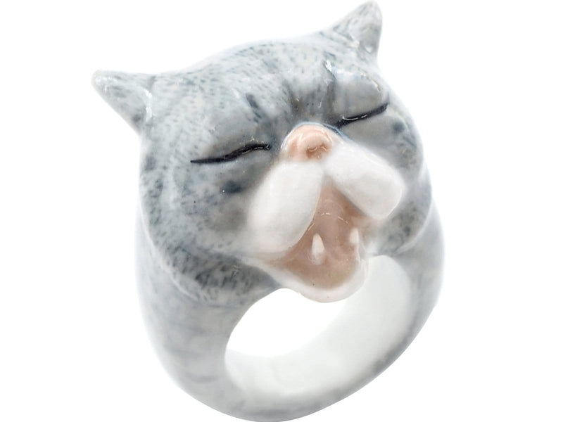 Medium Ring - Funny Cat
