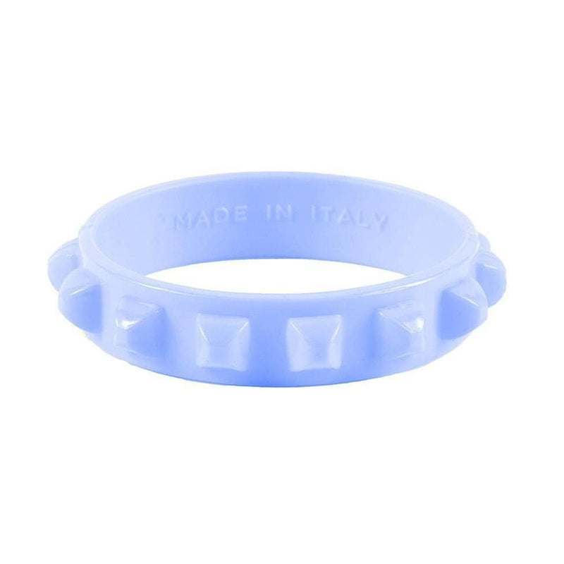 'Borchia' Studded Bracelet in Baby Blue