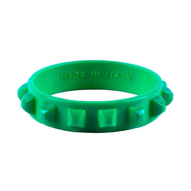 'Borchia' Studded Bracelet in Green