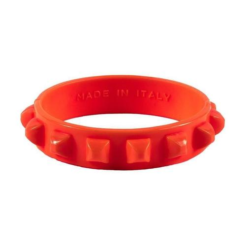 'Borchia' Studded Bracelet in Red