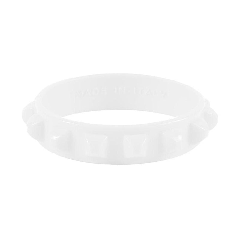 'Borchia' Studded Bracelet in White - ANTHILL shopNplay