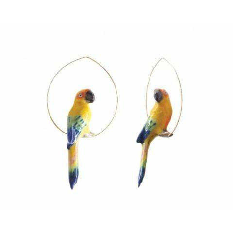 Nach Sun Parrot Earrings