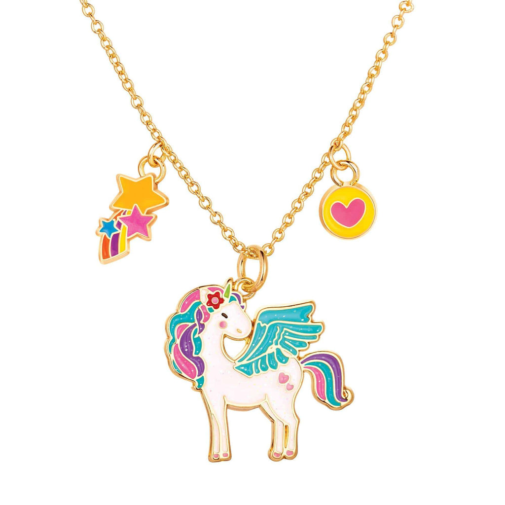 Charming Whimsy Necklace - Unicorn Glitter