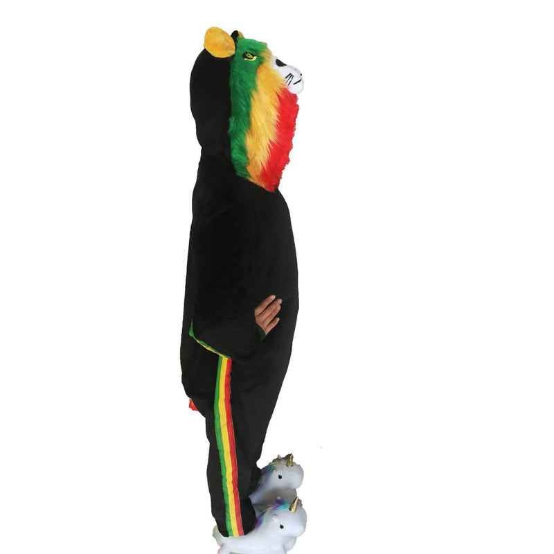Kids Unisex Animal Onesies - Rasta Lion 5-10 Years