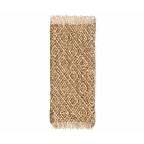 Miniature Rug 9.6X3.6 Inches Mustard