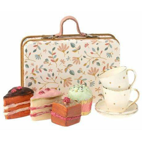 Suitcase, Flower W. Cakes & Tableware For 2 - ANTHILL shopNplay