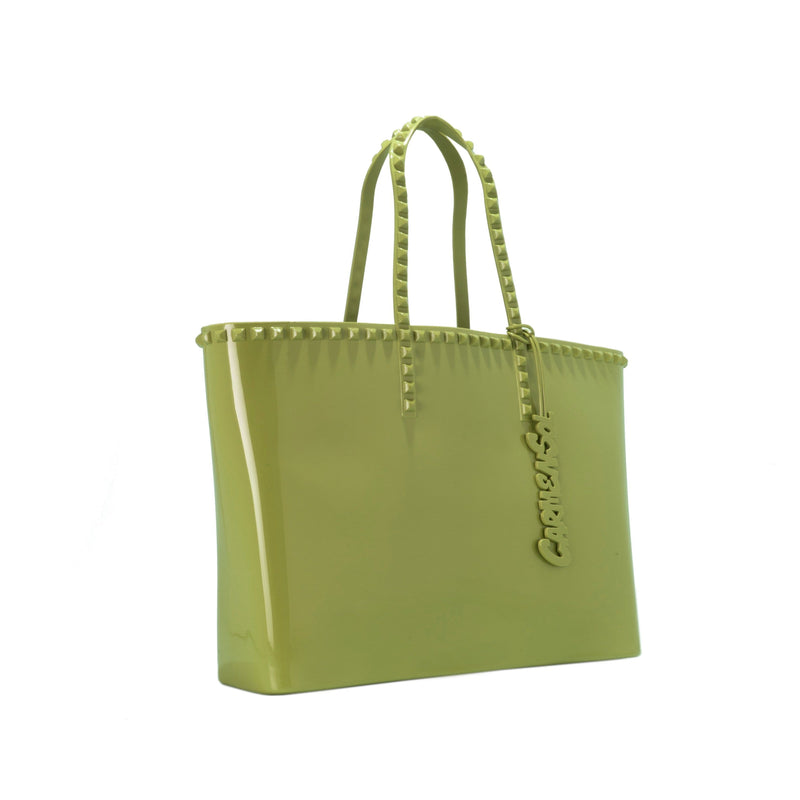 'Angelica' Large Tote in Olive Green