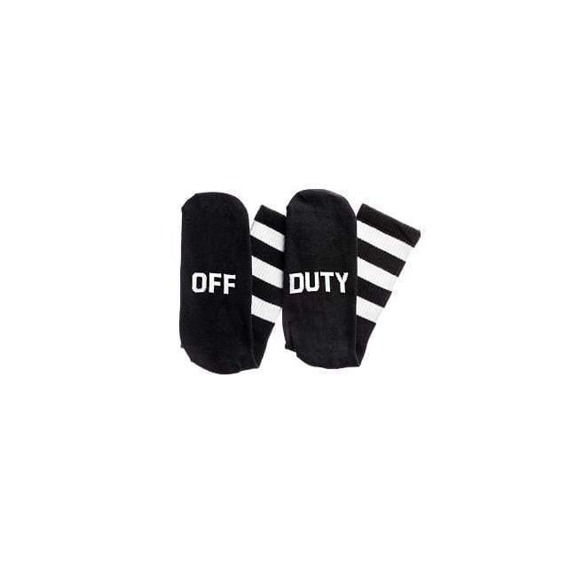 """Off. Duty"" Socks - Black - ANTHILL shopNplay"
