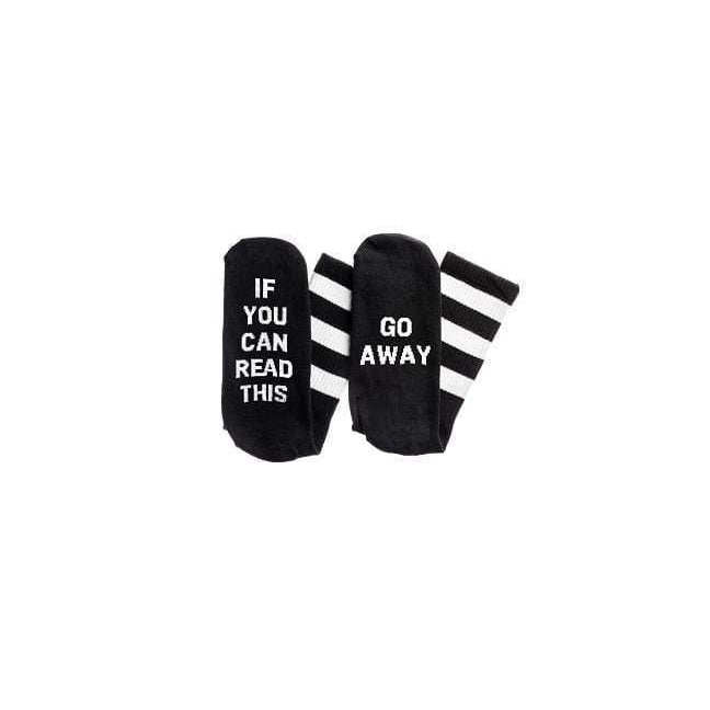 If You Can Read This. Go Away Socks - Black - ANTHILL shopNplay