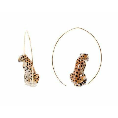 Oker Panther Earrings Fringe