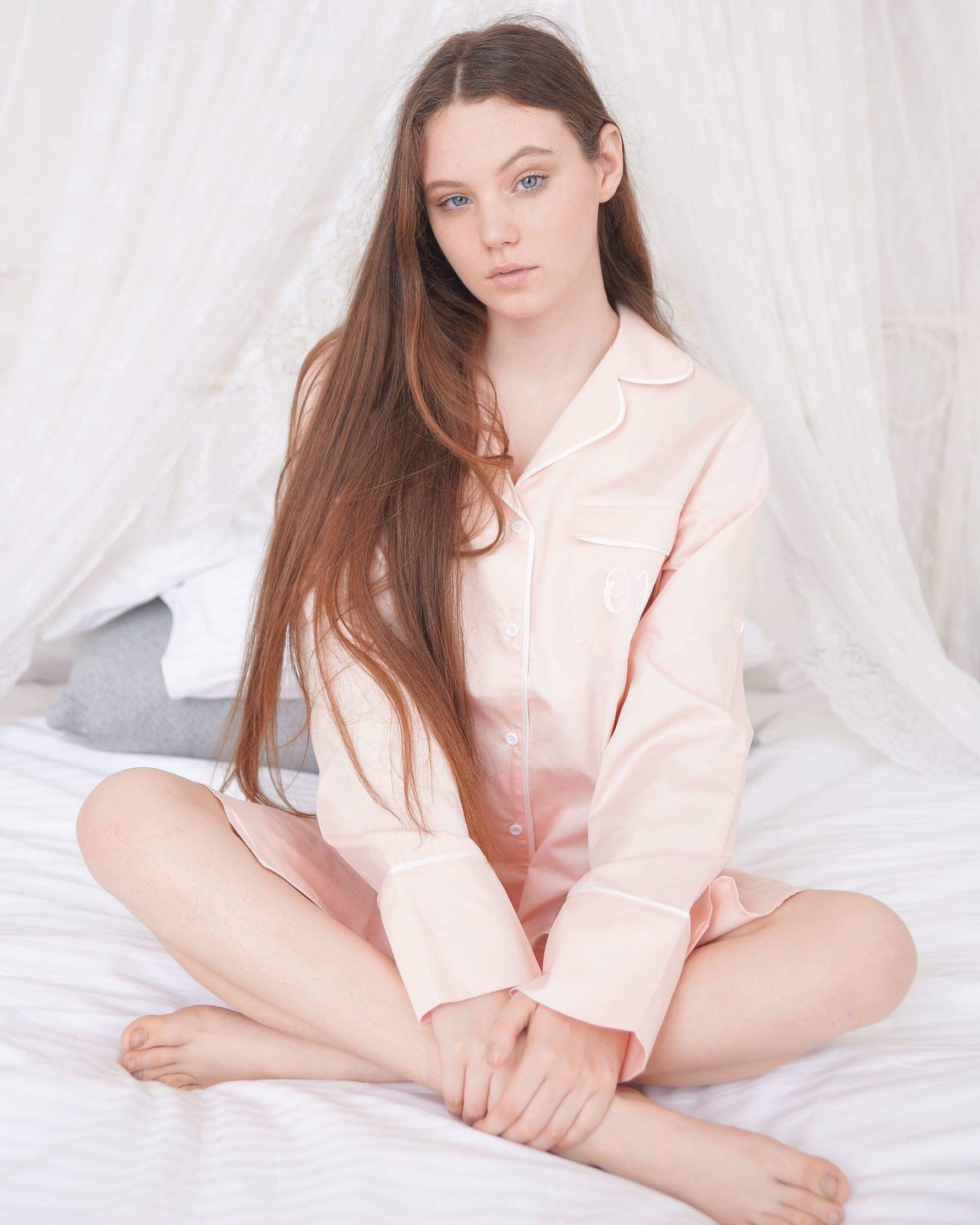 Pinky/Peach Boyfriend Sleep Shirt