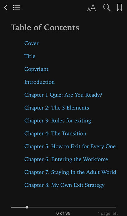 Book 7: Exit Strategies