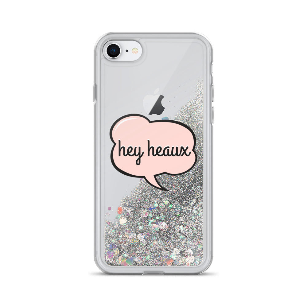 Hey Heaux Liquid Glitter Phone Case