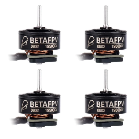 BetaFPV 0802 / 19500KV / 3-Hole / 1S Brushless Motors (Set of 4) | RC-N-Go