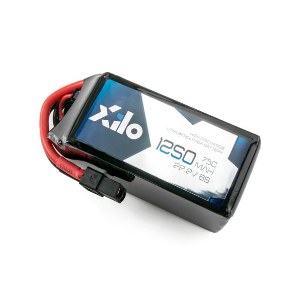 XILO 6S / 1250mAh / 75C / 22.2V LiPo Battery with XT60 Connector | RC-N-Go