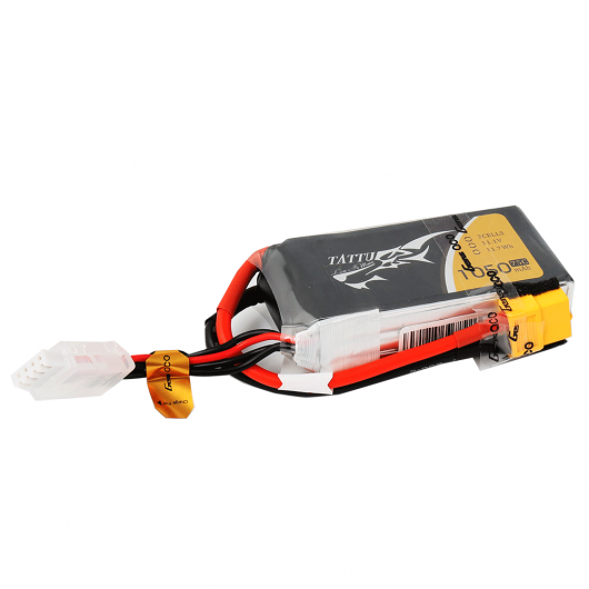 Tattu 3S / 1050mAh / 75C / 11.1V LiPo Battery w/ XT60 Plug | RC-N-Go