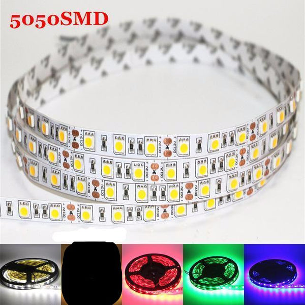 Flexible LED Light Strips 5050SMD (12v / Green, Blue, White & Red / 5mm Strips Cut to Size)